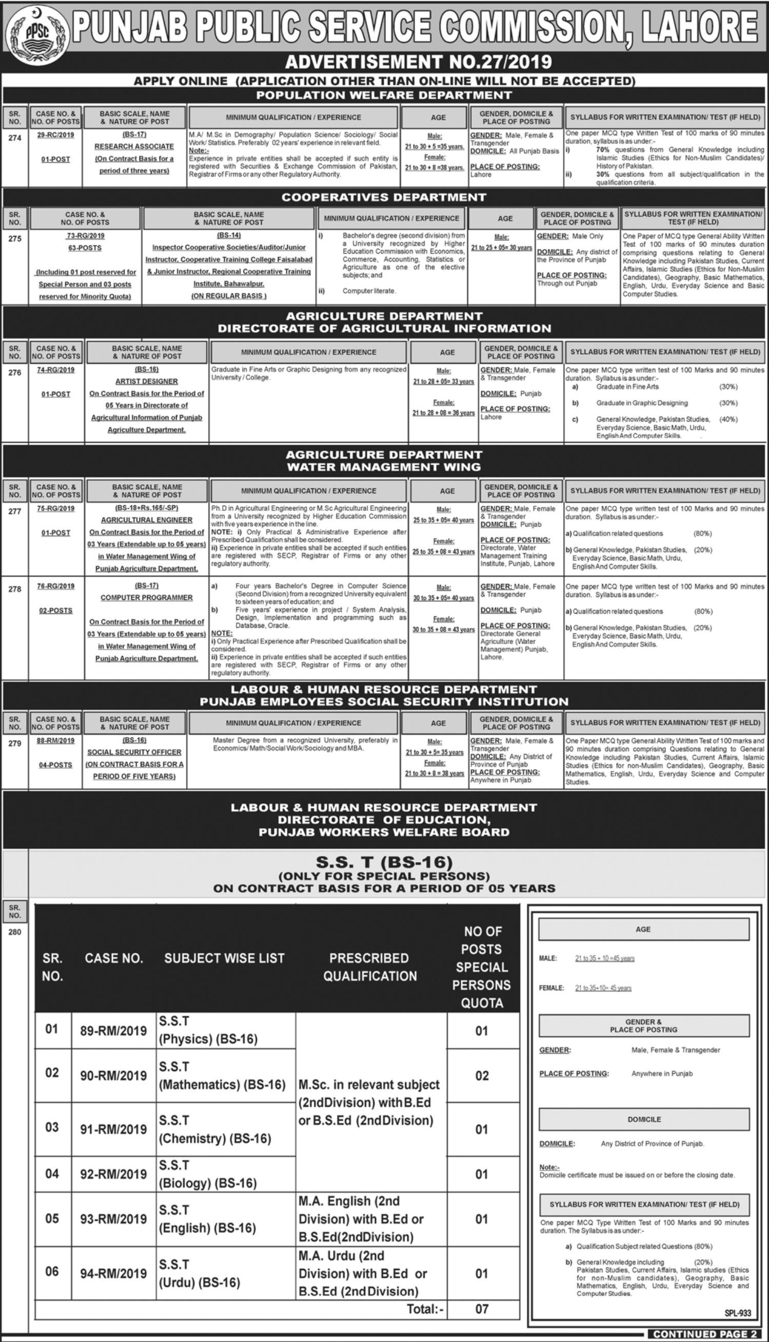 New-PPSC-Jobs-of-Inspector-CS-2019.-Apply-Online.