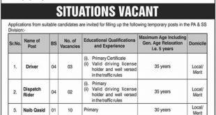 Latest Jobs in Cabinet Secretariat Islamabad, Pakistan.