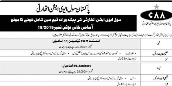 Allama Iqbal International Airport Lahore Jobs- PCAA Jobs 2019