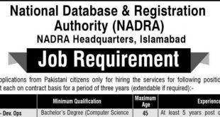 NADRA Jobs-Headquarters-Islamabad-Jobs-2019-