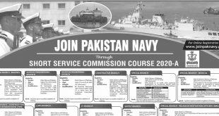 Join Pak Navy-Pakistan Navy Jobs through SSCC 2020-A-