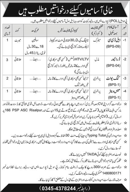 Govt Jobs in Pakistan Oilfields Limited KPK