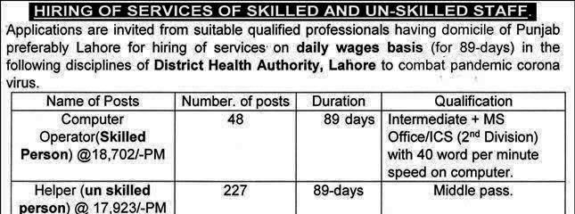 DHA Lahore Jobs