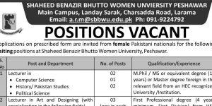 Female Jobs in Peshawar