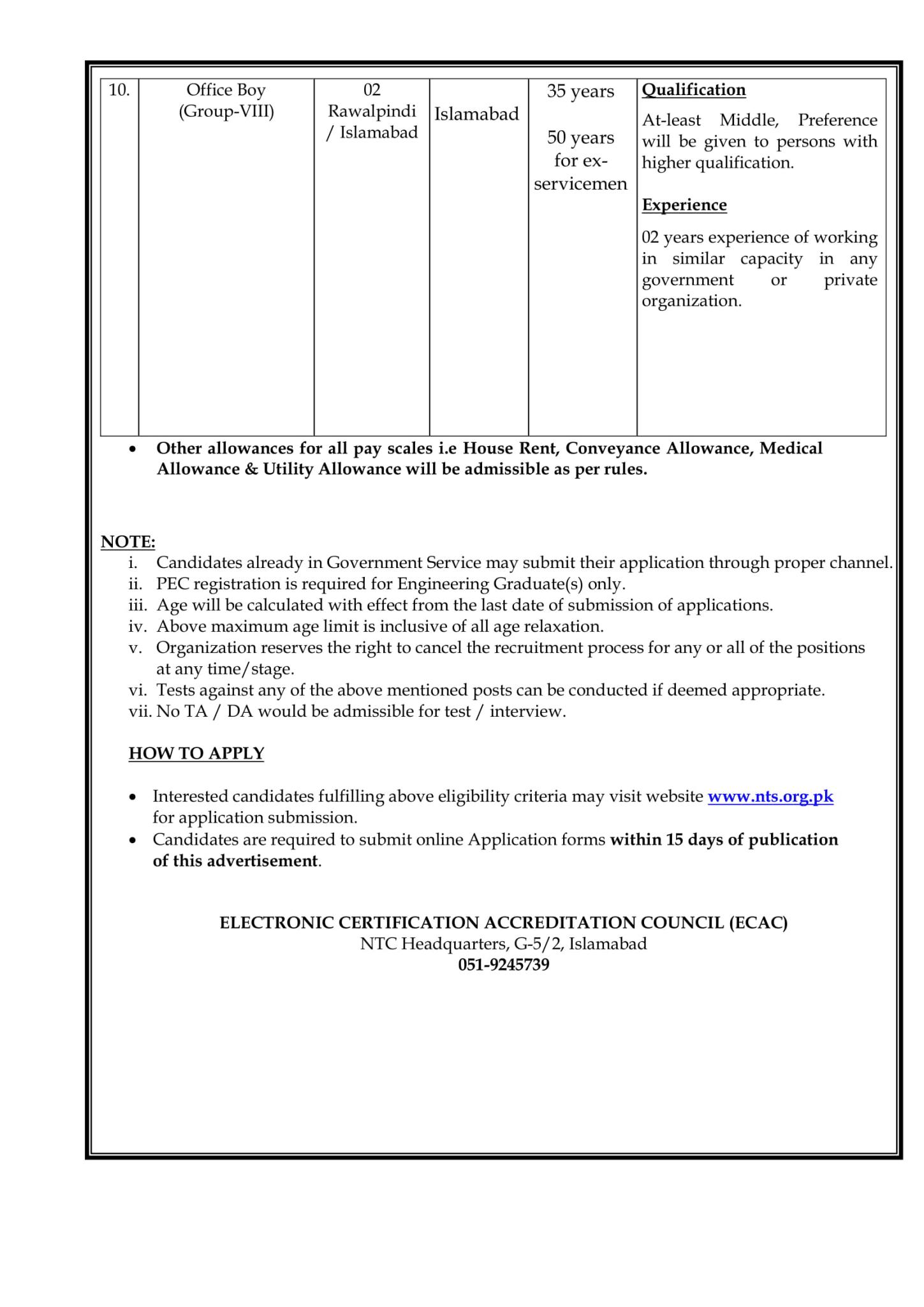 Electronic Certification Accreditation Council ECAC jobs