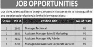 Jobs in Islamabad 2021
