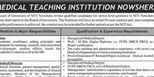 Vacancies for Teaching