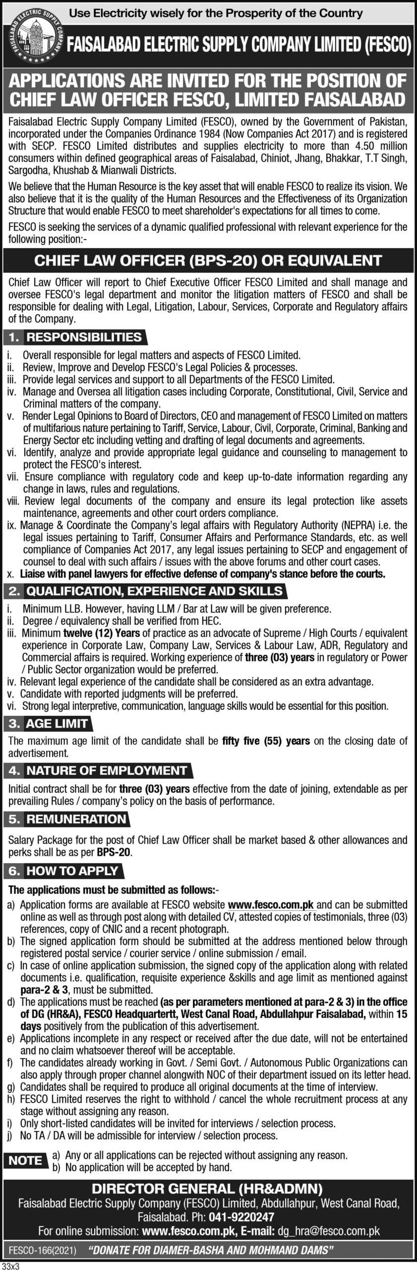 Latest Jobs in Faisalabad