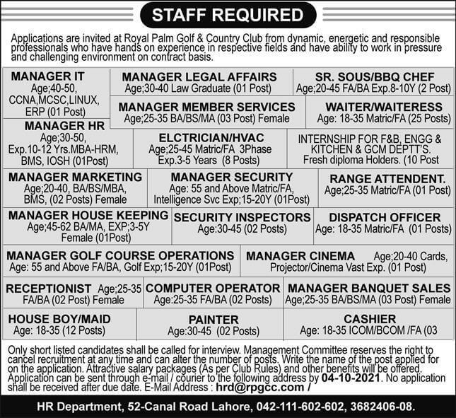 Govt Jobs 2021 Pakistan