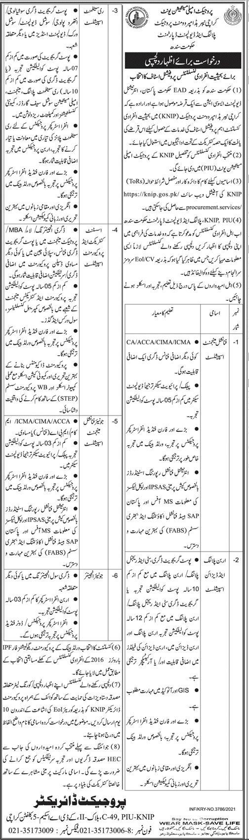 Govt Jobs in Karachi 2021